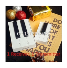 100M 315Mhz 25 Music Songs White Black Piano Digital Wireless Remote Control DoorBell 1 or 2