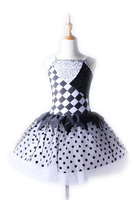 2017 Professional Classical Ballet Tutu Costumes Dress For Children Black Dancewear Gymnastics Leotard