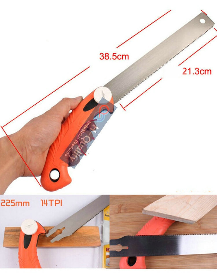 Three Time High Speed Woodworking Carpenter Tool Hand Saw Garden Pruning Saw  With Three Side Precision