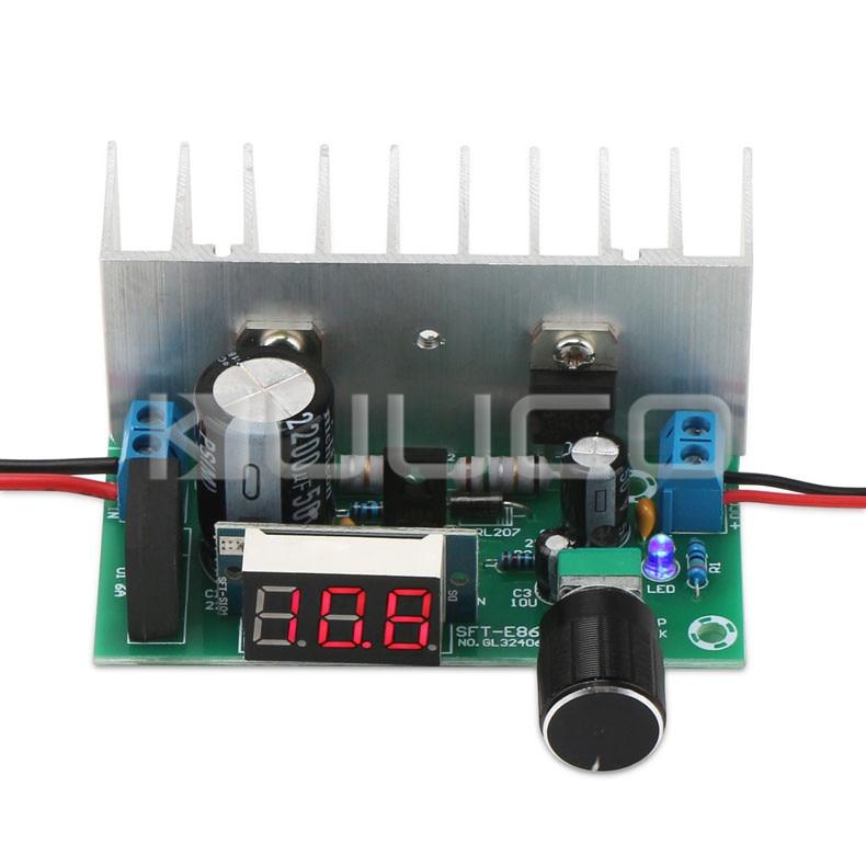 5 PCS/LOT Digital Power Supply Module DC 3V~ 35V (AC 28V) to DC 1.25~32V Adjustable Regulator DC 12V 24V Adapter/Driver