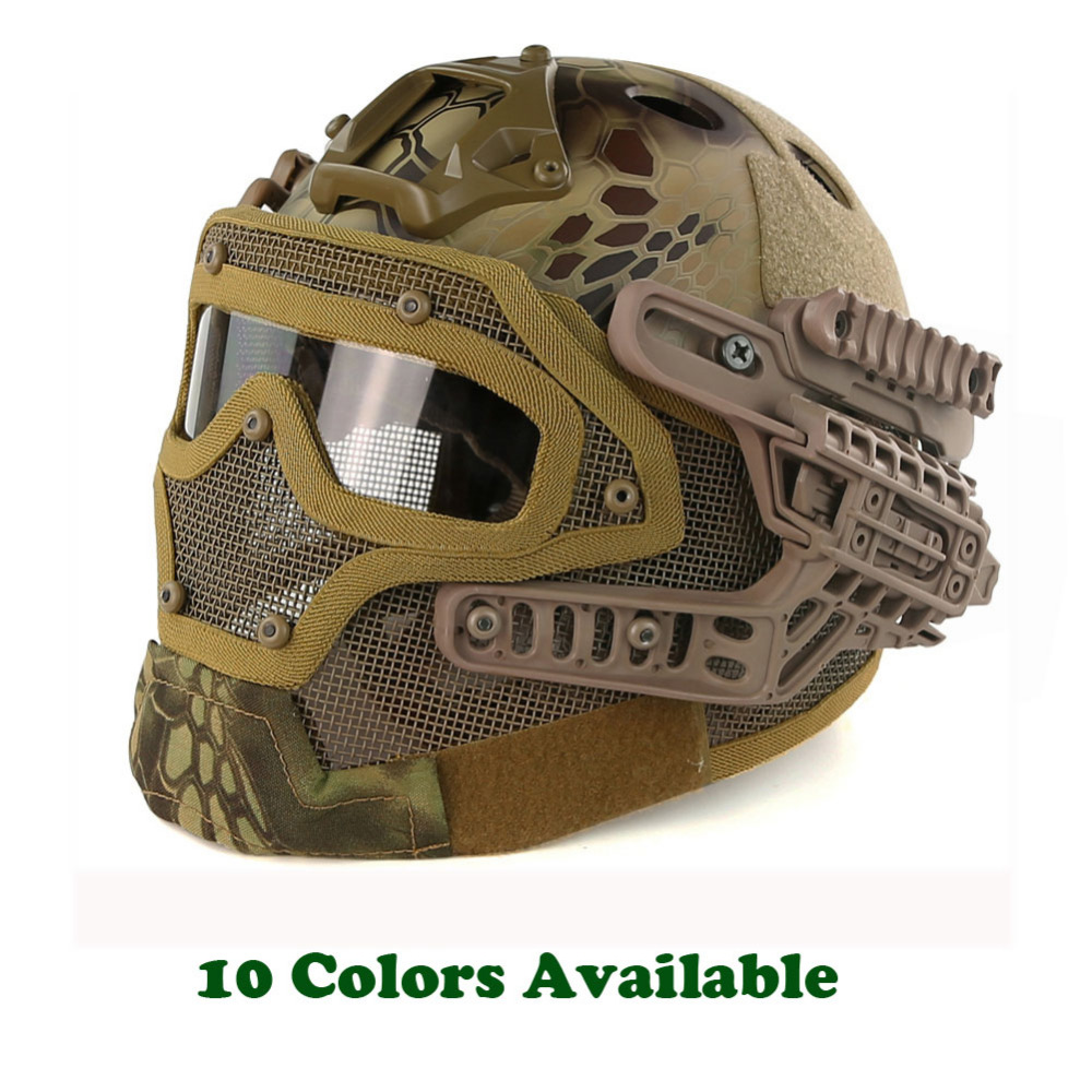 Army Military Tactical Helmet G4 System Casco Airsoft Helmet Sports Accessories Paintball Fullface Protective Face Mask