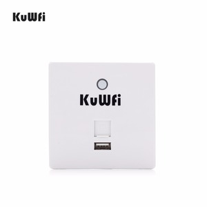 Image 1 - 300Mbps Wireless Router In Wall AP Router Indoor Wall Embedded Wireless WiFi Router Repeater Extender With USB Port