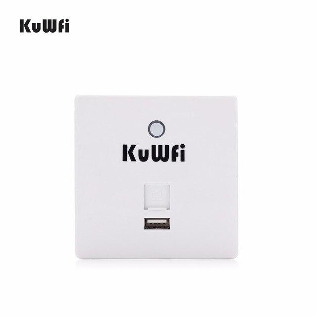 Routeur sans fil 300 Mbps dans le mur AP routeur intérieur mur intégré sans fil WiFi routeur répéteur Extender avec Port USB