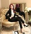 Señoras formales Trajes de Pantalón para las Mujeres Trajes de Negocios Blazer Chaquetas y Conjuntos de Estilos Uniformes de Oficina OL Trajes de Pantalón