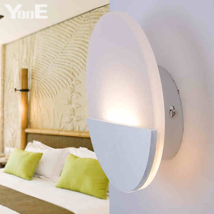 Yooe indoor led wall lamps 6w ac110v220v fashion round acrylic wall yooe indoor led wall lamps 6w ac110v220v fashion round acrylic wall sconce lighting bedroom warm white decorate led wall lights in led indoor wall lamps mozeypictures Image collections