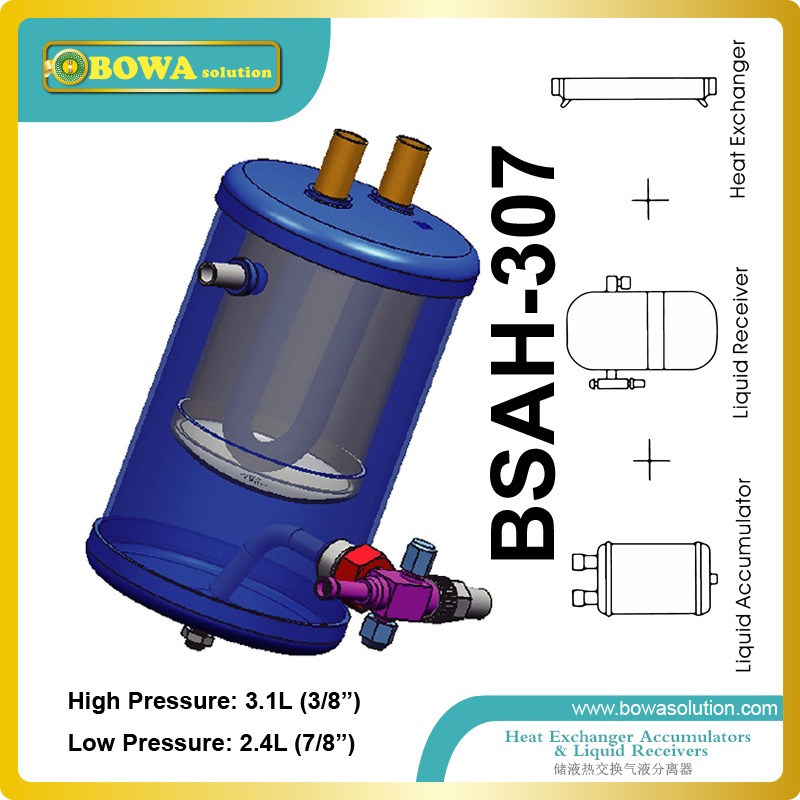 Hight quality Accumulators combined with receivers refrigerant heat exchanger  suitable for blast freezer equipments portable refrigerant recovery unit suitable for commerce refrigerated cabinet