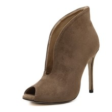High Heel Pumps Women Peep Toe Sexy Ankle Boots