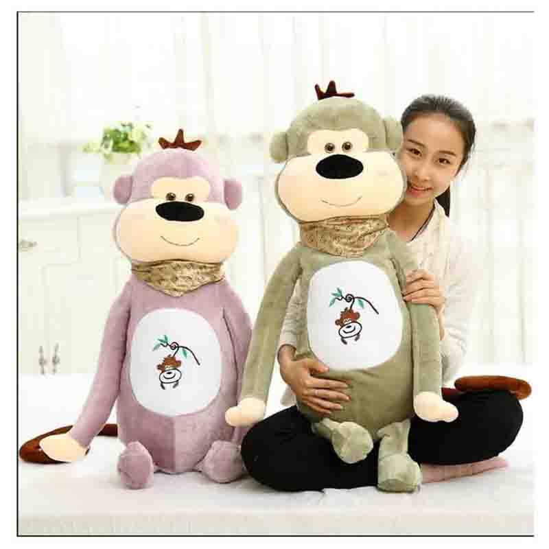 new plush stuffed animals toy doll for Childrens birthdays gift 90cm new year lucky monkey pink green color select