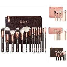 8/12/15 pcs ZOEVA Luxury Rose Golden Makeup Brushes Set Professional Powder essential make up brushes for face and eyes