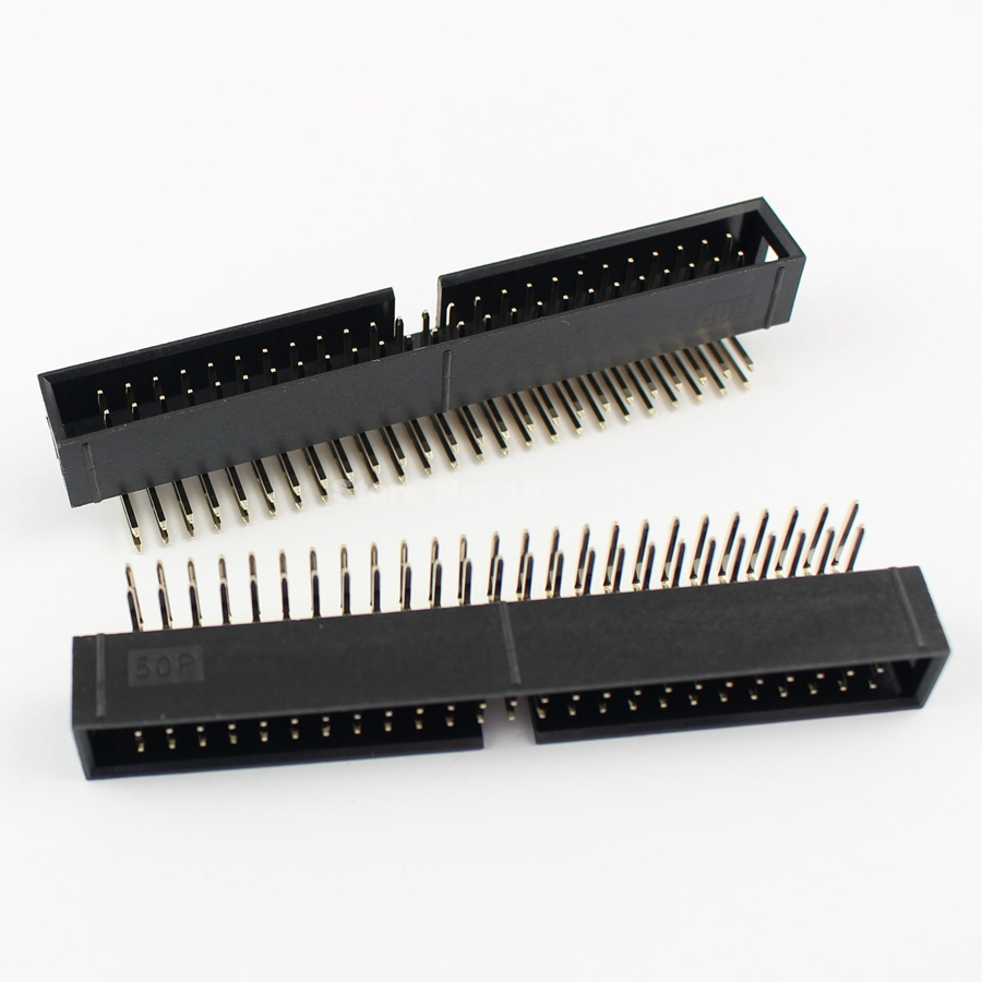 uxcell IDC 6 Pins Connector Flat Ribbon Cable Female Connector Length 20cm 1.27mm Pitch,2pcs