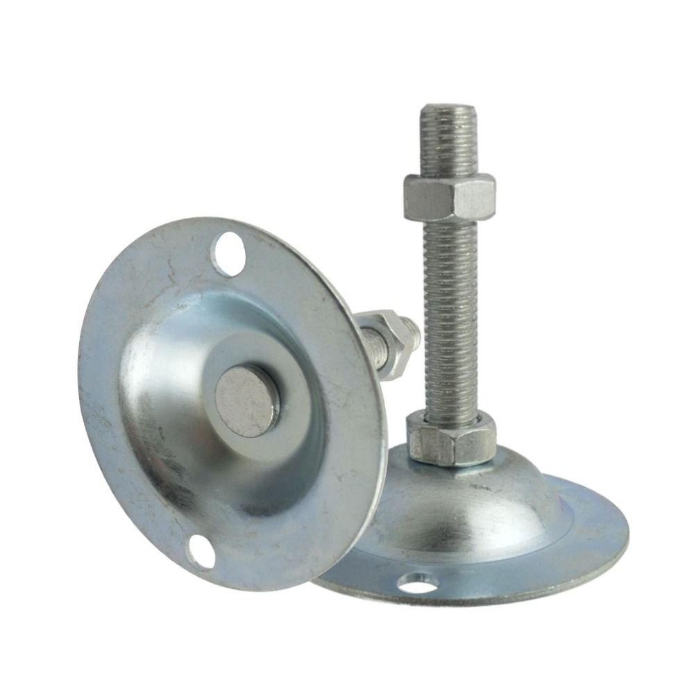 2pcs M14x150mm Adjustable Foot Cups with 2 Installation Holes Iron Galvanized Articulated Feet 80mm Diameter Base Leveling Foot шкатулка lc designs шкатулка для украшений 71017 lcd71017