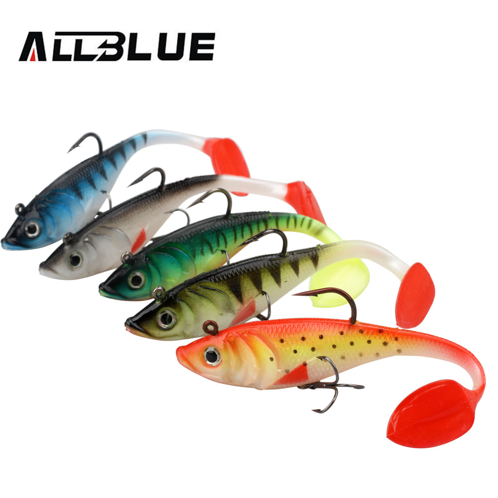 ALLBLUE 2pcs/lot 3D Eyes Swim Bait Live Bass 13.5cm Soft Rubber Sea Fishing Lures With T Tail Artificial Bait Jig Wobblers Shad 1pcs 16 5cm 29g big minnow fishing lures deep sea bass lure artificial wobbler fish swim bait diving 3d eyes