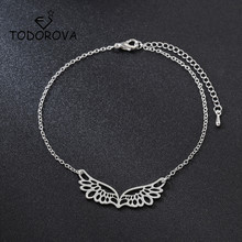 Todorova Adjustable Guardian Angel Wings Bracelet Bangle for Women Charm Chain Jewelry Girl Gift pulseira feminina