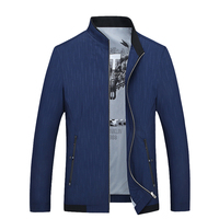 2017 Hot Spring Autumn Cotton Blend Men S Thin Jacket Lattice Pattern Men S Clothing Business