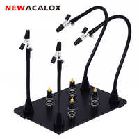 NEWACALOX support de carte de Circuit imprimé magnétique bras Flexible à souder troisième main Station de soudage support en fer à souder outils de réparation