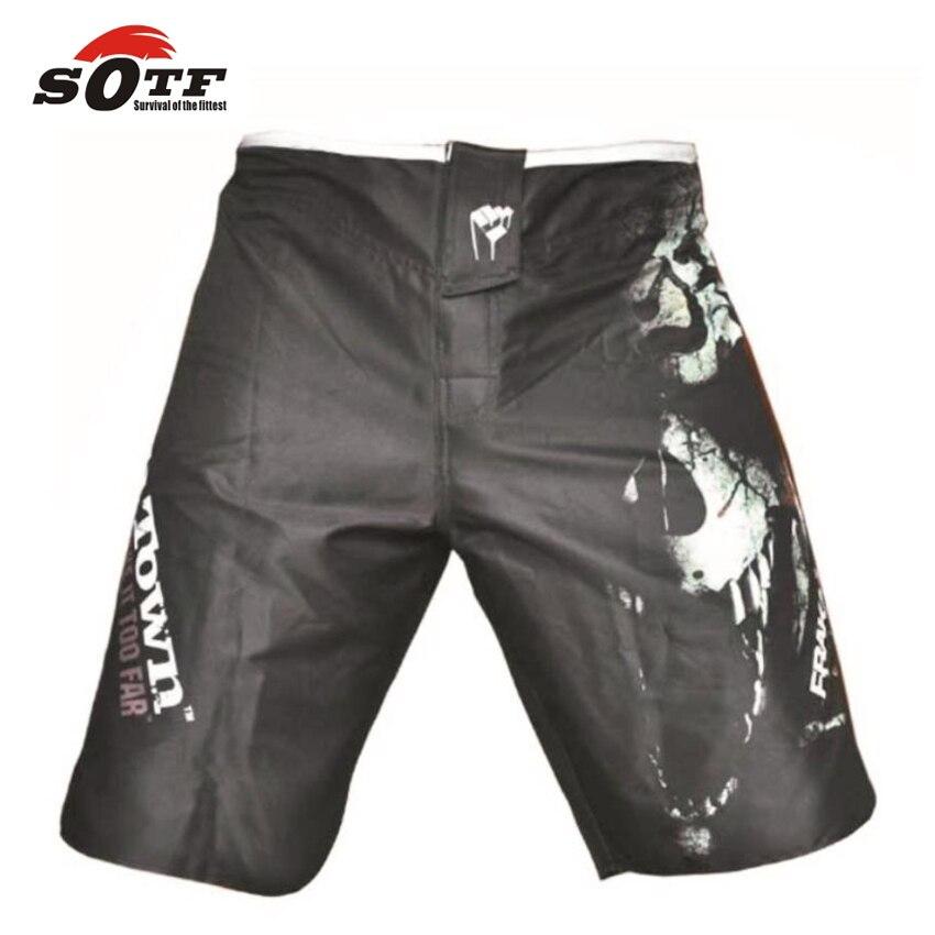 SOTF 2015 new MMA Muay Thai boxing fighting shorts pantalones mma kick boxing shorts pantalones boxeo high quality Free shopping