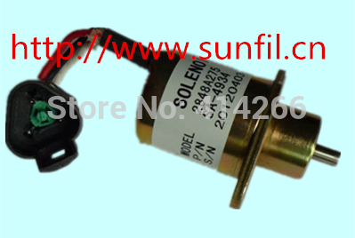 Fuel shutoff solenoid 2848A278 for  UB704 ENGINE, Free shipping 24V fuel blends for caribbean power a techno economic feasibility study