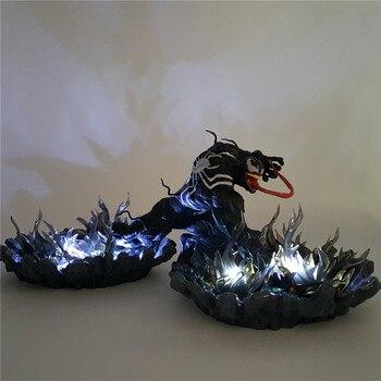 Человек-паук яд ночник Lampara черный базовый эффект DIY LED Настольная лампа для детей спальня Человек-паук Venom Luminaria MY1