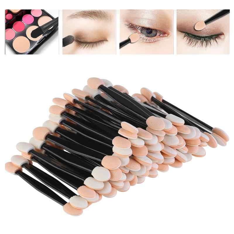 Baru 30 Pcs Sekali Pakai Kuas Eyeshadow Dual Sisi Spons Nilon Set Eye Shadow Kuas Makeup Kosmetik Aplikator Makeup