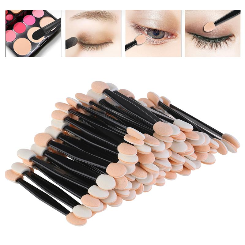Fashion Disposable Eyeshadow Brushes Make Up Dual Sided Sponge Nylon Sets Eye Shadow Brushes For Cosmetic Applicator Makeup