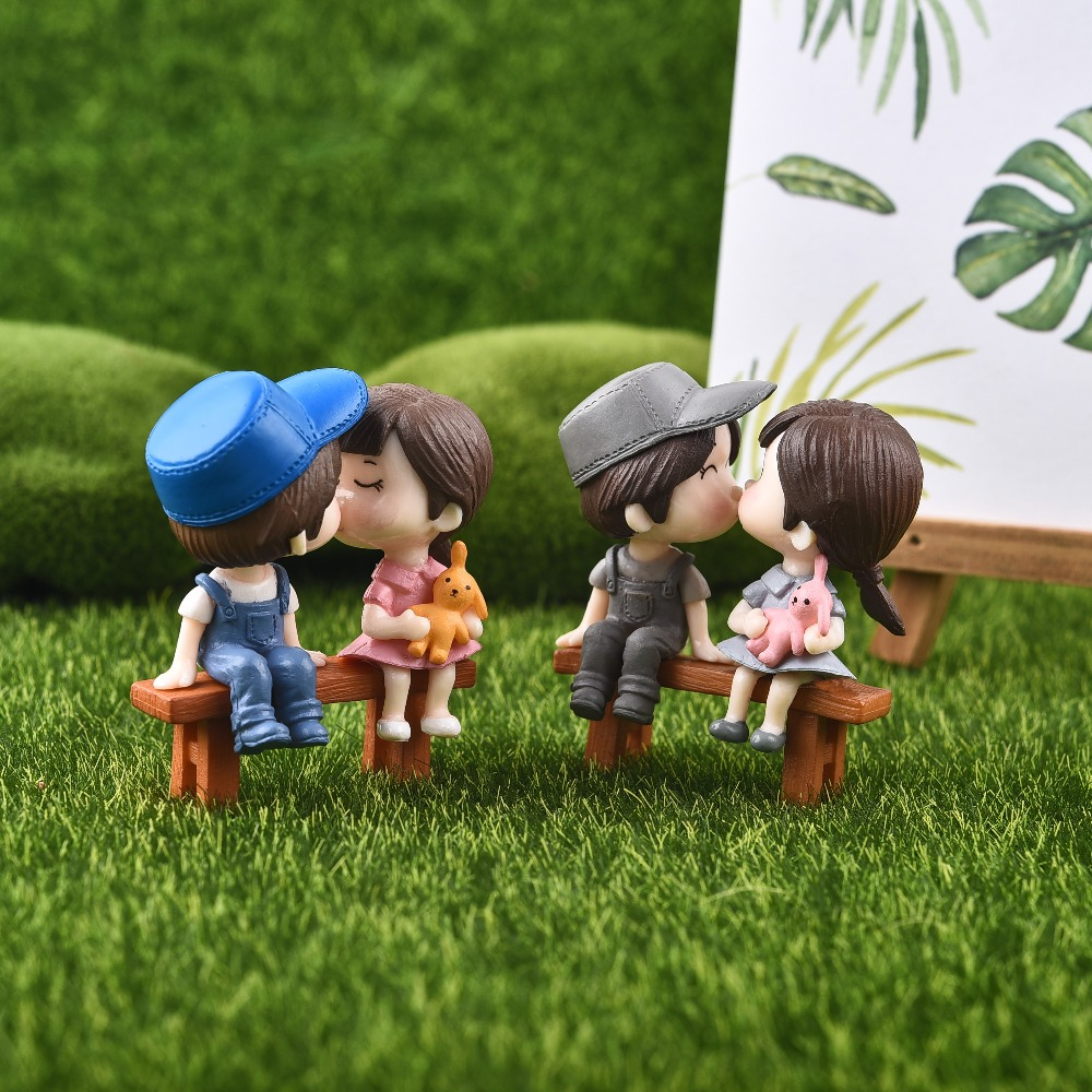 1set Sweety Lovers Couple Chair Figurines Miniatures Fairy Garden Gnome  Moss Terrariums Resin Crafts Home Decoration In Figurines U0026 Miniatures From  Home ...
