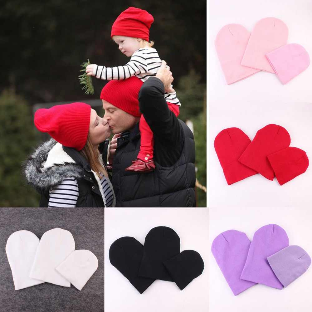 78e8fc5b4e8 Puseky 3PCS Dad Mom Baby Family Matching Cap Kid Adult Fashion Hat Solid  Color Parents-