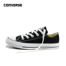 06e69d82a607 Autênticos Converse ALL STAR Clássico sapatos de Lona Respirável Dos Homens  Baixo-Top Sapatos de
