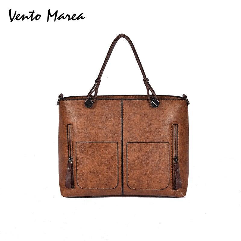 Woman bags Wholesale Large Shoulder Bags Borsa Famous Brand Handbags Casual Totes Zipper Designer PU Shopping Bag 2018 Promotion
