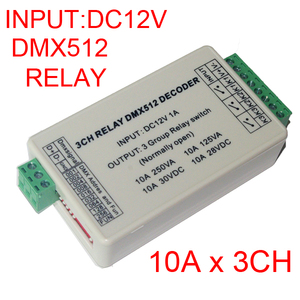 Image 2 - 1Pcs 3CH dmx512 LED Controller 3 channel DMX 512 RELAY OUTPUT Decoder Switch WS DMX RELAY 3CH
