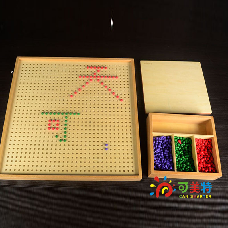 Montessori Materials Counting Playing Points Game  Professinal Pack Beech Wood Math Tools Early educational Can Smarter montessori materials the pythagorean theorem blocks a pack calculate beech wood math tools early educational toys can smarter