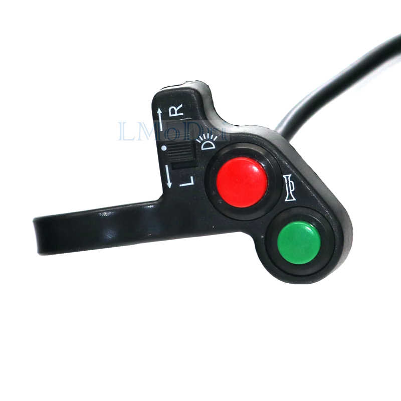 LMoDri Motorcycle Horn Turn Signal Light Switch For 7/8'' Handlebar Dirt Bike Scooter ATV ON/OFF