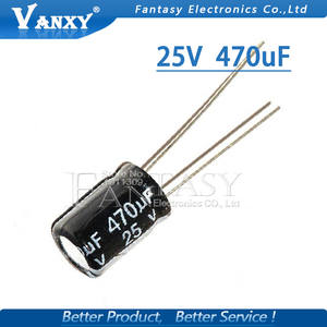 20PCS Higt quality 25V470UF 8*12mm 470UF 25V 8*12 Electrolytic capacitor