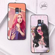 Fashion pretty girl Coque for Case Samsung Galaxy S10 Plus S7 S8 S9 Edge S10e Phone Cover