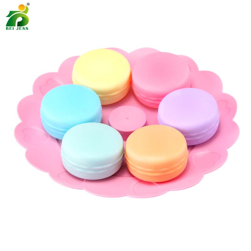 Bei Jess 23pcs Girl Pink Cake Tower Mini Cookie Food Set Plastic Kitchen Toys Kids Pretend Play Birthday Gift #2