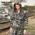 Камуфляж С Капюшоном Зимняя Куртка Мужская Камо Короткие Пальто Бархат Утолщенной Куртки И Пальто Военная Куртка Мужчины Вниз Парки Ms-6021B