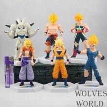 15cm 54th Generation Six Dragon Ball Model 6 In 1 Super Saiyan Action Figure Vegeta Kakarot Toy Figure Fine Gift
