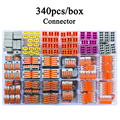 Wago tipo conector de alambre 340 unids/caja Universal compacto bloque Terminal de conector de cable para 5 habitación mixto conector rápido