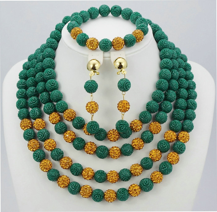 New fashion african beads jewelry set coral beads jewelry set