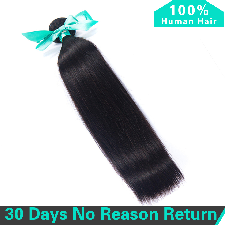 Peruvian Straight 100% Human Hair 1 pc Hair Weave Bundles Natural Color Free Shipping Non Remy Hair Extension