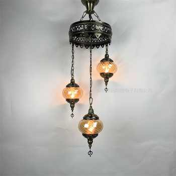 3/5/7 Heads Turkey ethnic customs Pendant lamp romantic Hotel cafe restaurant bar Pendant light living-room balcony stairs lampe