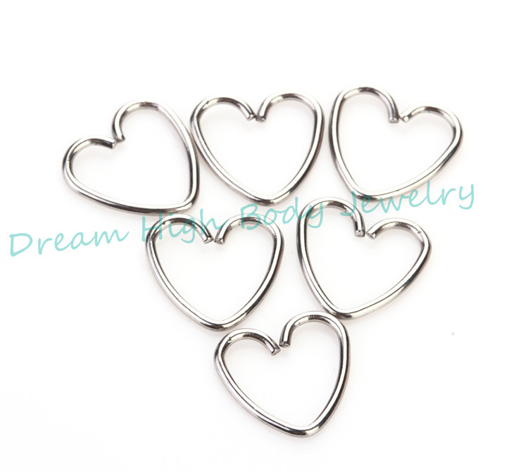 Newest Ear bone Ring Heart Nose Stud 316l Stainless Steel Fashion Body Piercing Jewelry