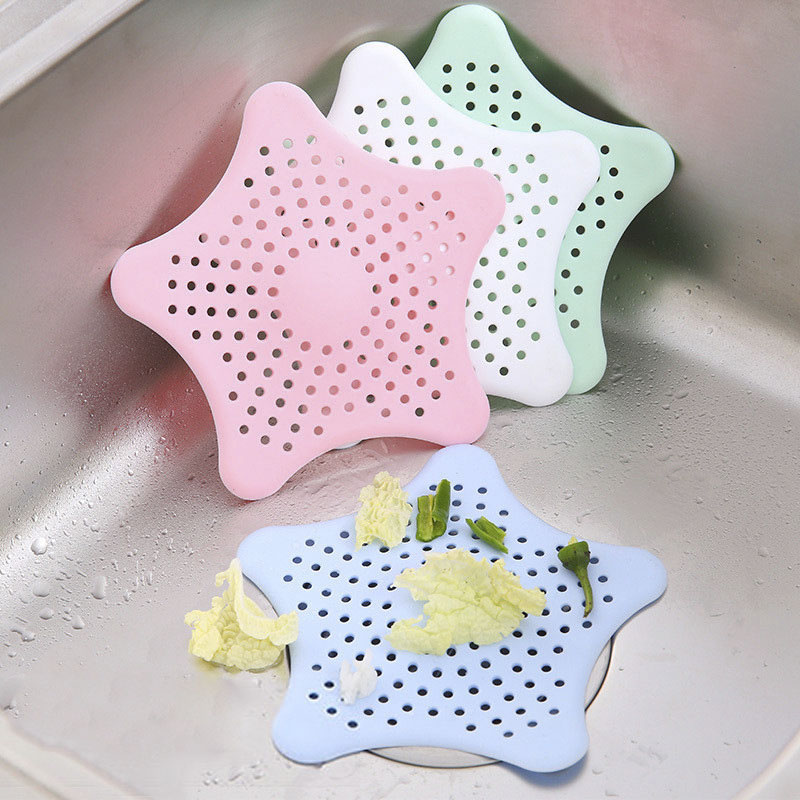 1pc Silicone Kitchen Sink Strainer Basket Filter Foldable Collapsible Colander Hair Stopper Gadgets