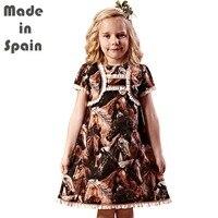 I-ロリポップ高級フラワーガールのドレス子供服キッズ女の子ドレスフェルガナ馬
