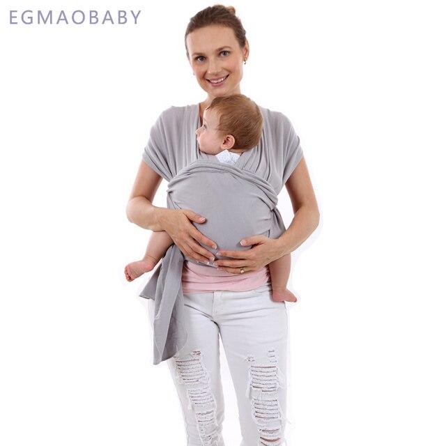EGMAOBABY portabebés Sling para recién nacidos envoltura suave para infantes abrigo transpirable asiento de bebé