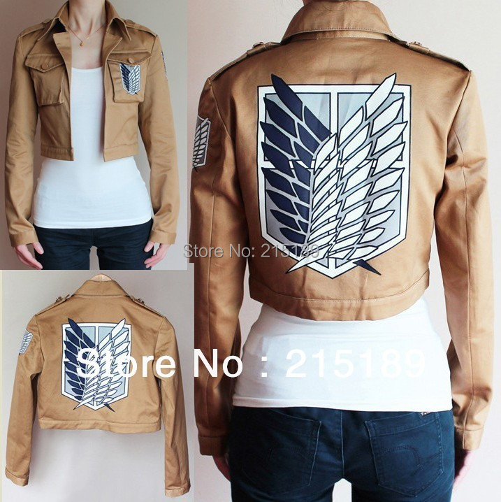 Wholesale Titan costume Shingeki no Kyojin/Attack on Titan Eren Jaeger Anime cosplay Jacket S M L XL XXL XXXL