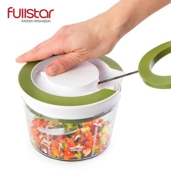 Fullstar נירוסטה מזון ופר ספירלת מבצע עוצמה ידנית יד מטבח אביזרי מטבח סכין מטבח כלי