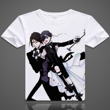 Anime Black Butler T-shirt männer Kurzarm Cartoon Sebastian Michaelis T-Shirt Cosplay Kleidung Kostenloser Versand