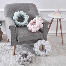 Knot Ball Pillow Handmade Knot Creative Cushion Woven Cashmere Sofa Pillow Decoration Diameter 380mm цена