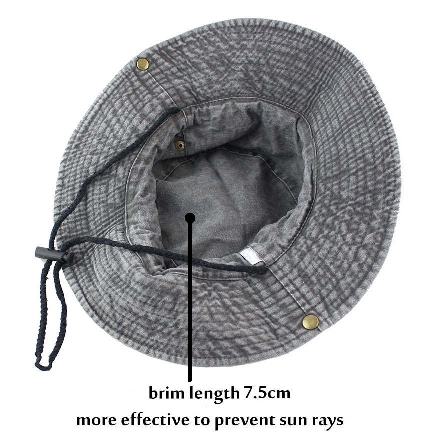 90ac8982022d1 100% Cotton Summer Wide Brim Bucket Hat Denim Beach Hats Sun Women Men s  Outdoors Foldable UV Protection Fishings Caps Washed