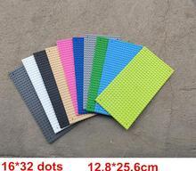 5pcs/Lot Small Blocks Base Plate 32*16 Dots 12.8*25.6 Cm building blocks DIY Baseplate(China (Mainland))